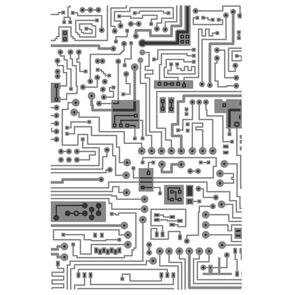 Sizzix Texture Fades Multi-Level Embossing Folder - Circuit by Tim Holtz