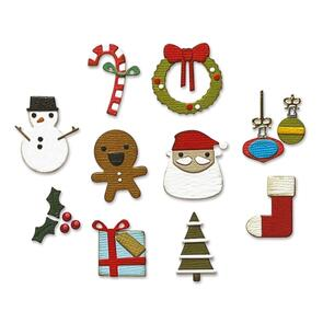 Sizzix Tim Holtz Die Set 11PK Christmas Minis