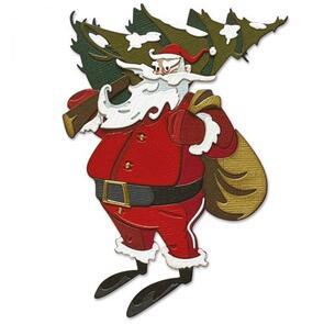 Sizzix Tim Holtz Die Set 18PK - Woodland Santa, Colorize