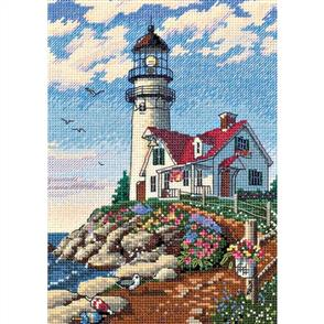 Dimensions  Beacon At Rocky Point - Cross Stitch Kit