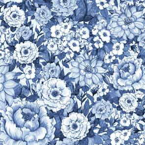Susan Winget  - Fabric - Chinoiserie, Blue - 101