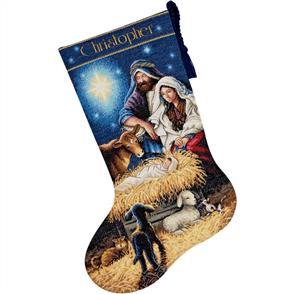 Dimensions  Cross Stitch Stocking Kit - Holy Night - Christmas