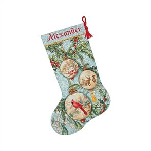 Dimensions  Cross Stitch Stocking Kit - Enchanted Ornaments - Christmas