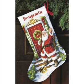 Dimensions  Cross Stitch Stocking Kit - Welcome Santa