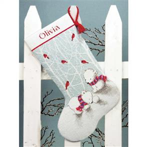 Dimensions  Snow Bears Stocking Counted Cross Stitch Kit