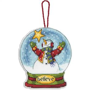 Dimensions  Ornament Cross Stitch Kit - Believe Snow Globe