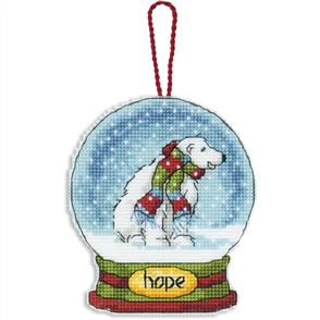 Dimensions  Ornament Cross Stitch Kit - Hope Snow Globe