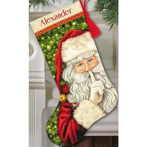 Dimensions  Cross Stitch Stocking Kit - Secret Santa - Christmas