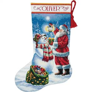 Dimensions  Cross Stitch Stocking Kit - Holiday Glow