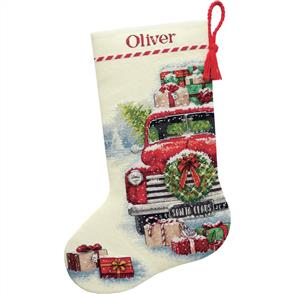 Dimensions  Cross Stitch Stocking Kit - Santa's Truck - Christmas