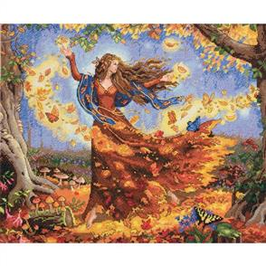 "Dimensions  Counted Cross Stitch Kit- Fall Fairy 14""X12"""