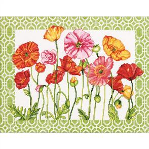 Dimensions  Poppy Pattern - Cross Stitch Kit