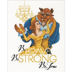 Dimensions  Disney Princess Counted Cross Stitch Kit - Beauty & the Beast