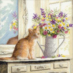 Dimensions  Cross Stitch Kit - Kitten In The Window