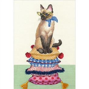 """Dimensions  Counted Cross Stitch Kit 10""""X14"""" - Cat Lady"""