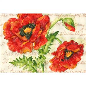 Dimensions  Poppy Pair  Counted Cross Stitch Kit