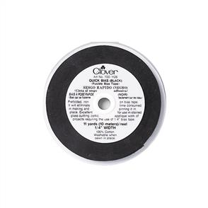 "Clover  Quick Bias Fusible Bias Tape .25""X11yd - Black"