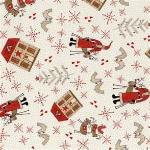 Lecien Lynette Anderson Scandinavian Christmas II - Santa Cream