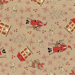 Lecien Lynette Anderson Scandinavian Christmas II - Santa Beige