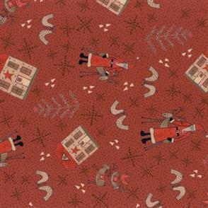 Lecien Lynette Anderson Scandinavian Christmas II - Santa Red