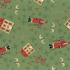 Lecien Lynette Anderson Scandinavian Christmas II - Santa Sage