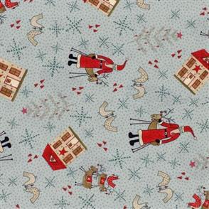 Lecien Lynette Anderson Scandinavian Christmas II - Santa Blue