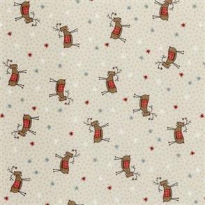 Lecien Lynette Anderson Scandinavian Christmas II - Reindeer Cream
