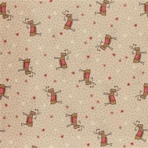 Lecien Lynette Anderson Scandinavian Christmas II - Reindeer Beige