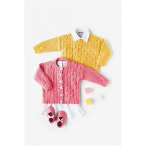 DMC Baby Cotton Sweater & Cardigan Pattern