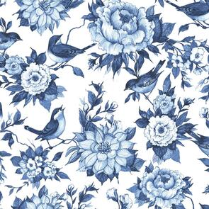 Susan Winget  - Fabric - Chinoiserie, White - 103