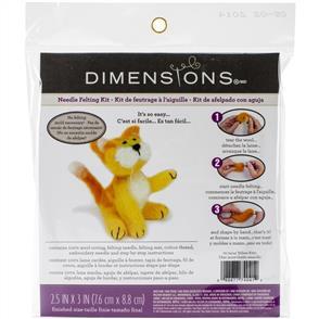 Dimensions  Feltworks Needle Felting Kit - Yellow Kitty
