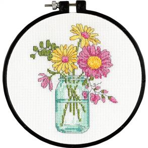 Dimensions  Learn-A-Craft Counted Cross Stitch Kit - Summer Flowers
