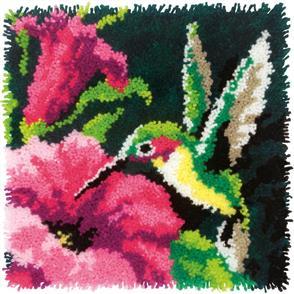 """Dimensions  Latch Hook Kit 16""""X16"""" - Hummingbird"""