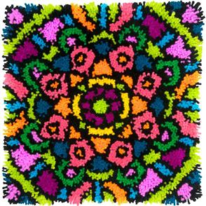 "Dimensions  Colorful Latch Hook Kit 16""X16"" - Mandala"