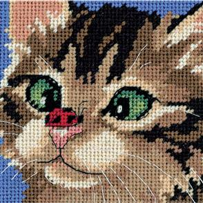 Dimensions  Needlepoint Kit - Cross-Eyed Kitty