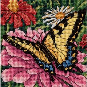 Dimensions  Needlepoint Kit - Butterfly On Zinnia
