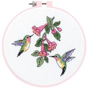 Dimensions  Learn-A-Craft Counted Cross Stitch Kit - Hummingbird Duo