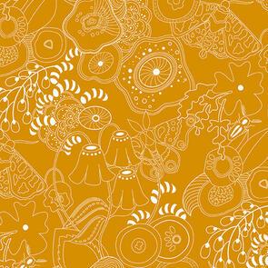 Andover Fabric  Alison Glass Hopscotch 20 Grow - Orange