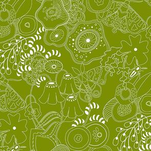 Andover Fabric  Alison Glass Hopscotch 20 Grow - Green