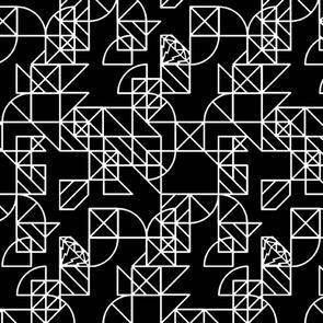Andover Fabric  Alison Glass Hopscotch 24 Pony Boy - Black