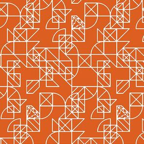Andover Fabric  Alison Glass Hopscotch 24 Pony Boy - Orange