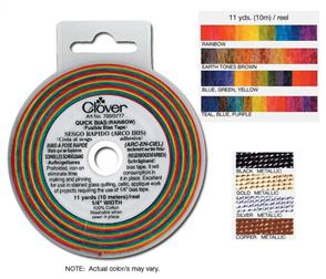 Clover  Mini Quick Bias Fusible Bias Tape Rainbow