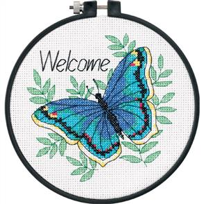 Dimensions  Learn-A-Craft Counted Cross Stitch Kit - Welcome Butterfly