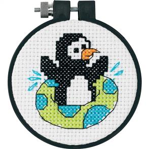 Dimensions  Learn-A-Craft Counted Cross Stitch Kit - Playful Penguin