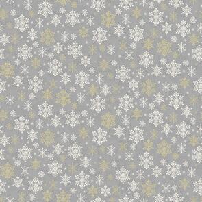 Makower Scandi Snowflake - 2358 - Christmas - Grey / Silver