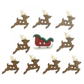 Dress It Up  Embellishments - Sew Cute Sleigh / Reindeer