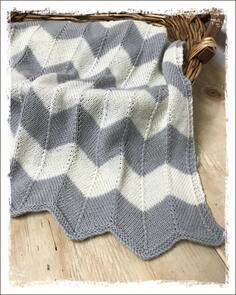 The Kiwi Stitch & Knit Co  Chevron Blanket for Baby Pattern
