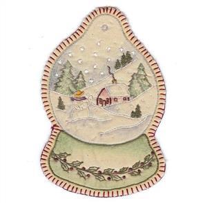 Chickadee Hollow Christmas Keepsakes Ornament - Vintage Christmas Snowglobe