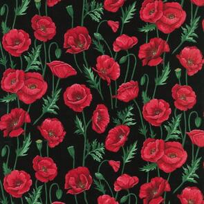 Nutex Poppies Fabric Col 102