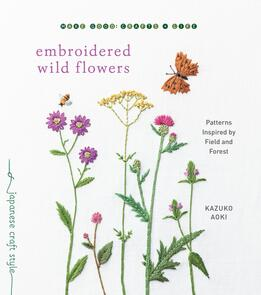Roost Books Embroidered Wild Flowers